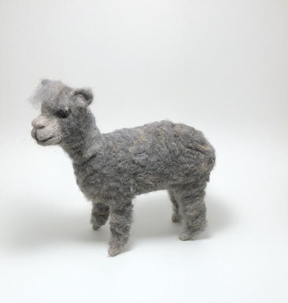 Needle Felted Alpaca, OOAK, Original Design