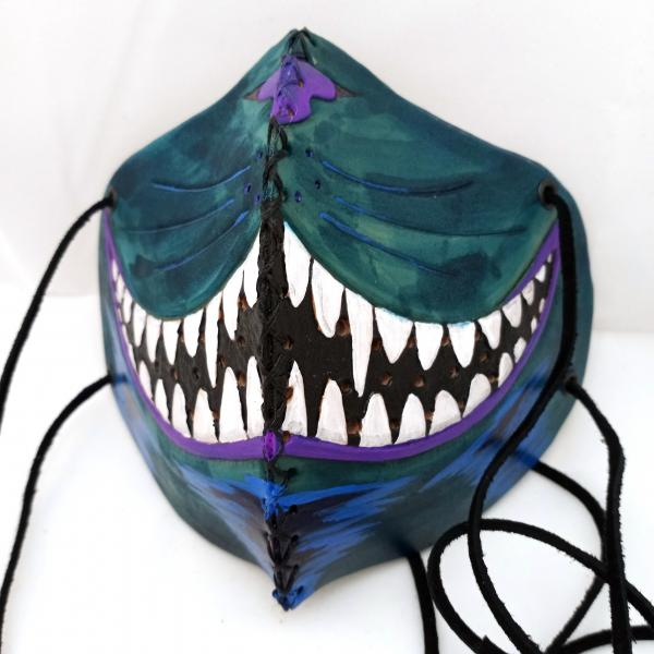 Leather Half Mask - Fun Designs with Washable Cloth Filters Included picture