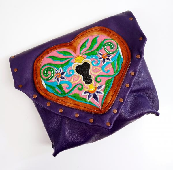 Key to My Heart Leather Purse & Pouch Set - One of a Kind Leather Art picture