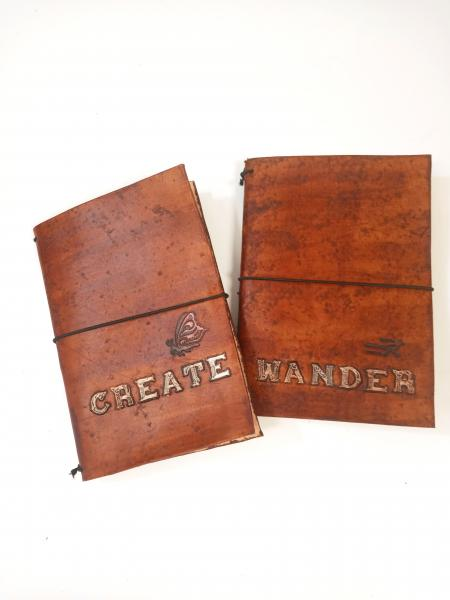 Leather Traveler's Journal Cover