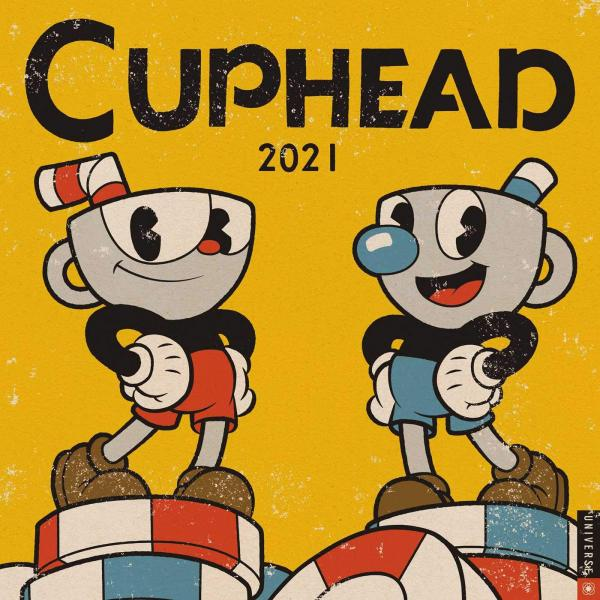 Cuphead Video Game 12 Month 2021 Game Art Wall Calendar NEW SEALED