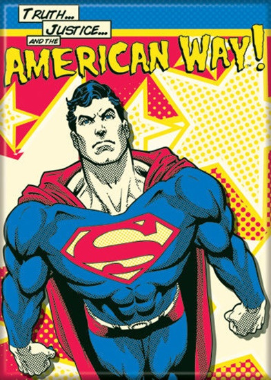DC Comics Superman Truth Justice The American Way Refrigerator Magnet NEW UNUSED