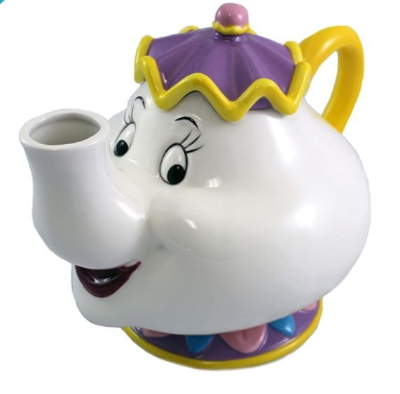 Walt Disney's Beauty and the Beast Mrs. Potts 48 oz Ceramic Teapot UNUSED BOXED