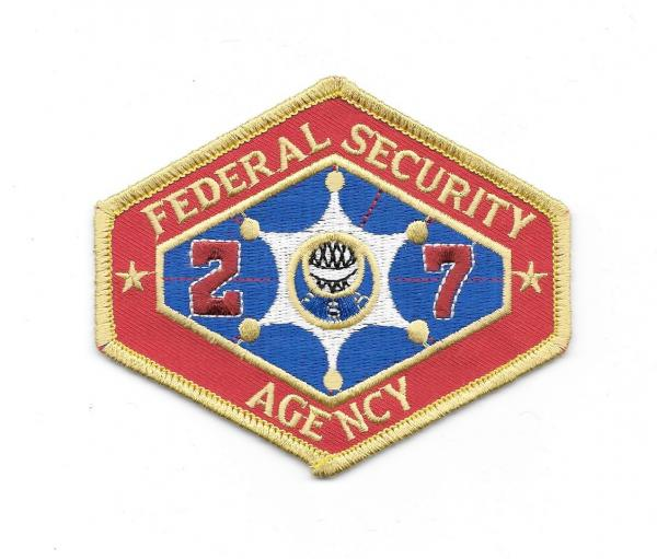Outland Movie Federal Security Agency Logo Embroidered Patch NEW UNUSED