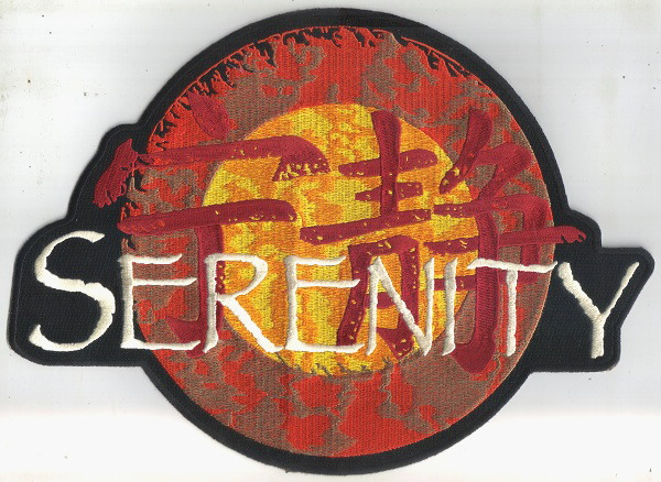 Firefly / Serenity Movie Ship Logo Jacket Die-Cut Embroidered Patch, NEW UNUSED picture