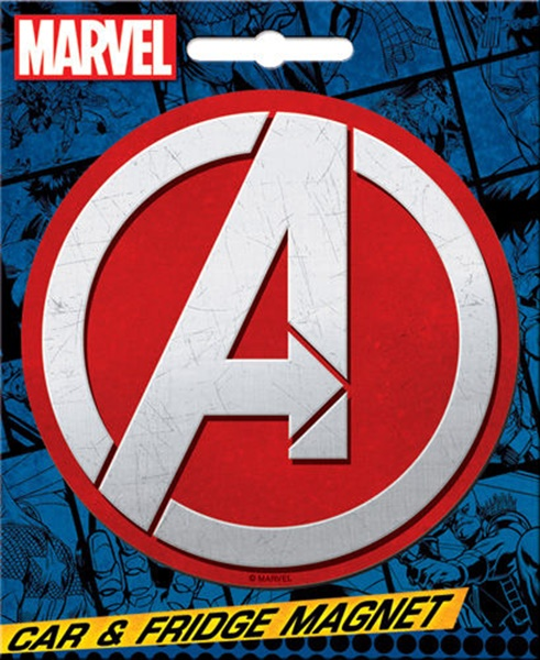 Marvel Comics The Avengers A Logo Image Car Magnet NEW UNUSED picture
