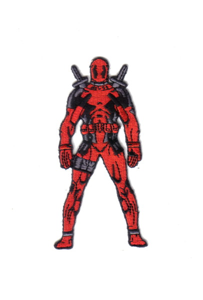 "Marvel Comics Deadpool Standing Figure Embroidered 4"" High Patch NEW UNUSED"