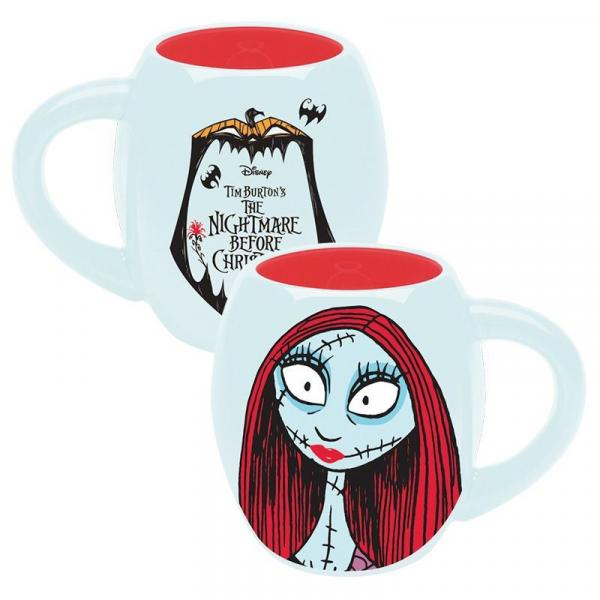 The Nightmare Before Christmas Sally Face and Logo 18 oz Ceramic Oval Mug UNUSED
