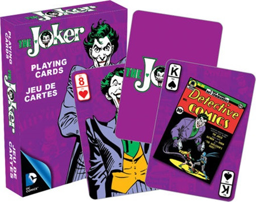 DC Comics The Joker Retro Comic Art Illustrated Poker Playing Cards, NEW SEALED picture