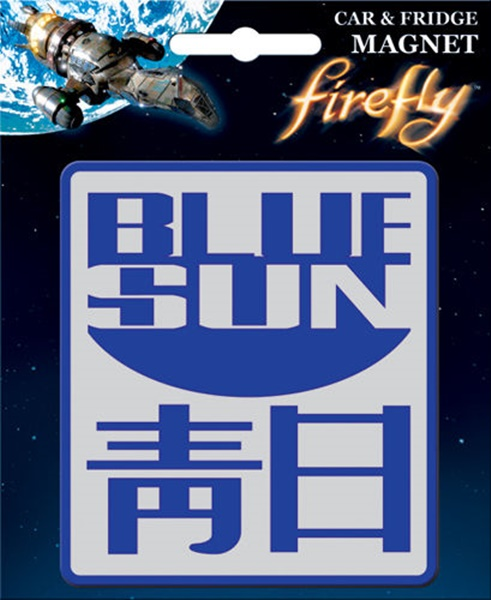 Firefly TV Series Blue Sun Logo Image Car Magnet Serenity NEW UNUSED
