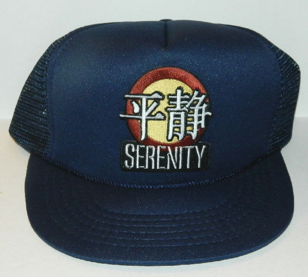 Firefly TV Series Serenity Logo Embroidered Patch Black Baseball Cap Hat NEW
