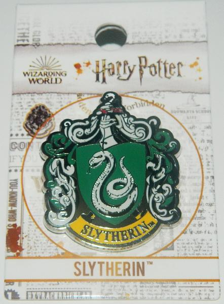 Harry Potter House of Slytherin Crest Logo Colored Metal Lapel Pin NEW UNUSED