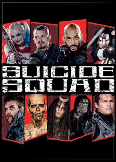 Suicide Squad Movie Group Photo with White Logo Refrigerator Magnet NEW UNUSED
