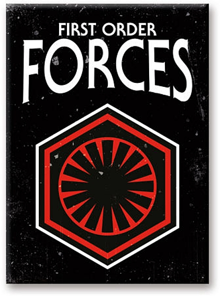 Star Wars First Order Forces Symbol Art Image Refrigerator Magnet NEW UNUSED