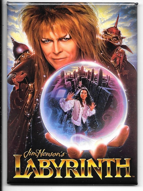 Labyrinth Movie Advance One-Sheet Movie Poster Image Refrigerator Magnet UNUSED