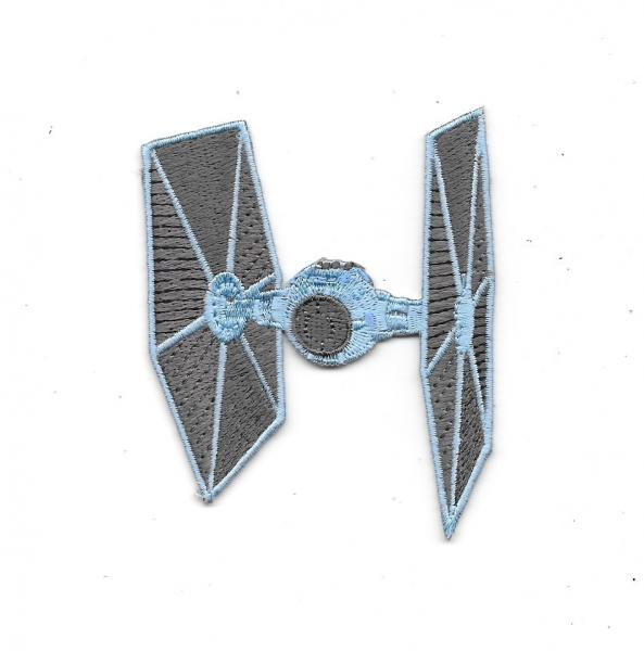 Star Wars Imperial Tie Fighter Ship Die-Cut Embroidered Patch NEW UNUSED