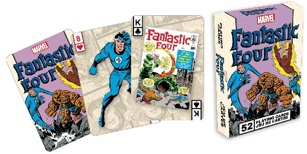 Fantastic Four Comic Art Illustrated Poker Playing Cards Deck, NEW SEALED picture
