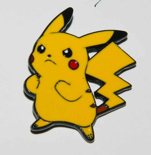 Pok'emon Anime Pikachu Angry Standing Figure Enamel Metal Pin NEW UNUSED