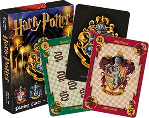Harry Potter Hogwarts House Themed Illustrated Poker Size Playing Cards, NEW picture