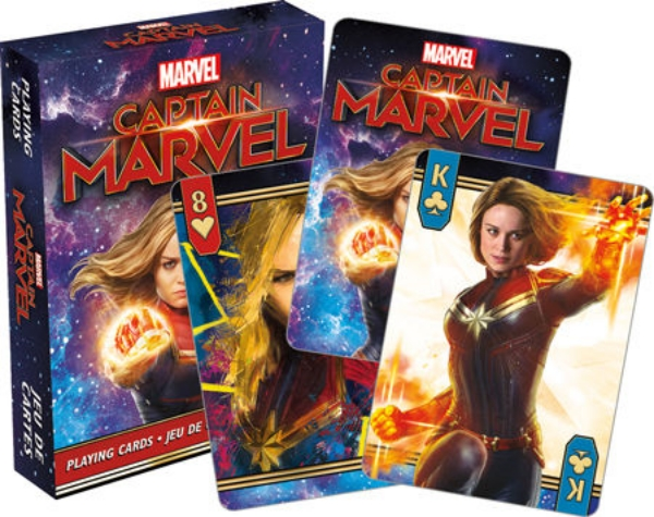 Captain Marvel Movie Photo Illustrated Poker Playing Cards Deck NEW SEALED picture