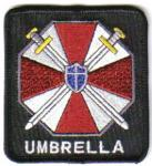 Resident Evil Umbrella Corporation Logo and Name Embroidered Patch, NEW UNUSED