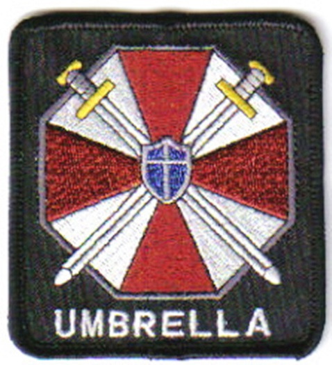 Resident Evil Umbrella Corporation Logo and Name Embroidered Patch, NEW UNUSED picture