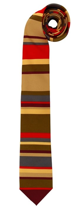 Doctor Who 4th Doctor Colors Tom Baker Polyester Necktie, COSPLAY, NEW UNWORN picture