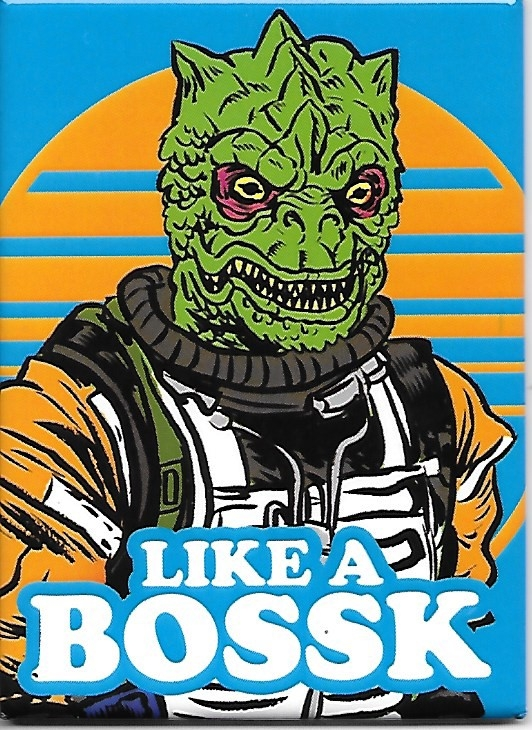 Star Wars Like A Bossk Bounty Hunter Art Image Refrigerator Magnet NEW UNUSED picture