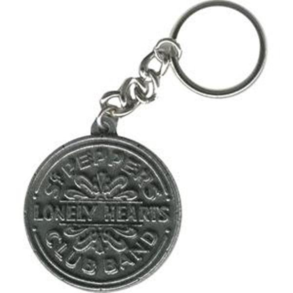 The Beatles Sgt. Peppers Drum Antique Metal Keychain, NEW UNUSED