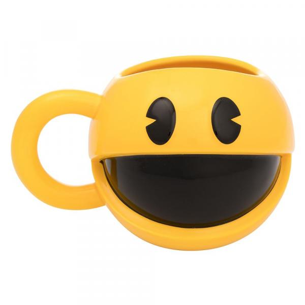 Pac-Man Video Game Character Figural Sculpted 20 oz Ceramic Mug NEW UNUSED