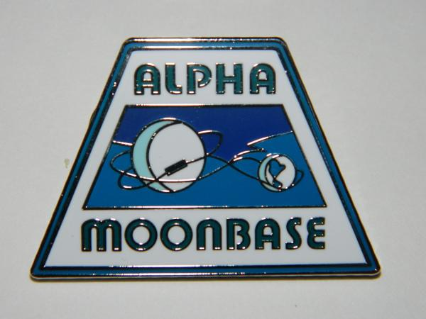Space: 1999 TV Series Alpha Moonbase Uniform Shoulder Logo Metal Enamel Pin NEW