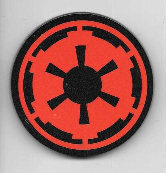 Star Wars Imperial Empire Cog Red Logo Chunky 3-D Die-Cut Magnet NEW UNUSED picture