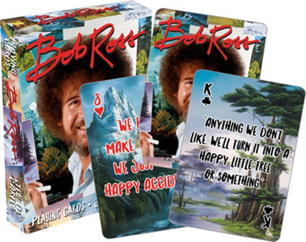 Bob Ross Joy of Painting Photo Illustrated Poker Size Playing Cards NEW SEALED