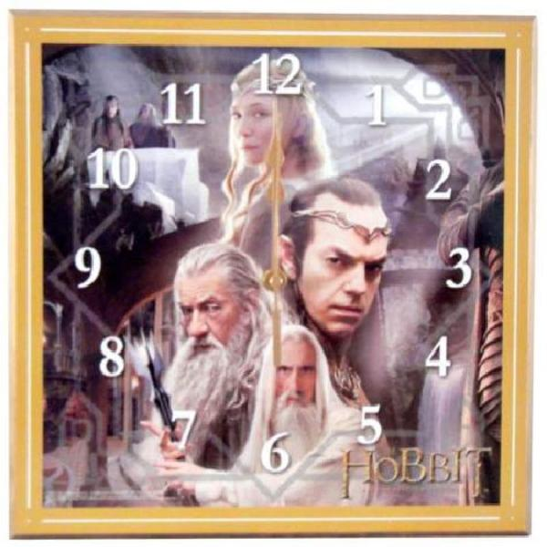 "The Hobbit The White Council Cordless 12"" Wall Clock Lord of the Rings BOXED"