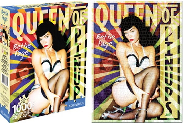 Bettie Page Queen of Pinups 1000 Pc Jigsaw Puzzle, NEW UNUSED