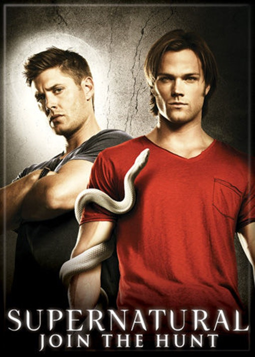 Supernatural TV Series: Sam, Dean and Snake Photo Refrigerator Magnet NEW UNUSED
