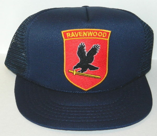 Jericho TV Series Ravenwood Security Logo Chest Patch o/a Black Baseball Cap Hat