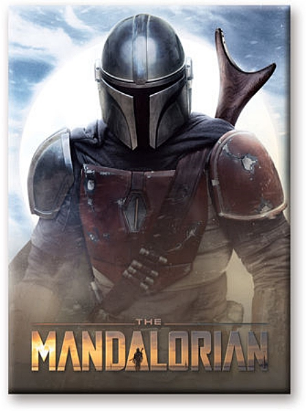 Star Wars The Mandalorian Figure Stare Art Image Refrigerator Magnet NEW UNUSED