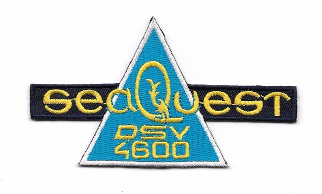 SeaQuest TV Series DSV 4600 Chest Logo Embroidered Patch, NEW UNUSED