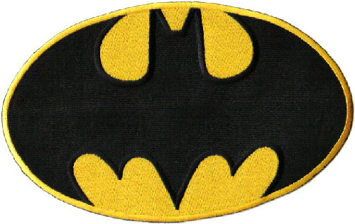 Batman Comic Book Bat Chest Logo Large Embroidered Jacket Patch, NEW UNUSED