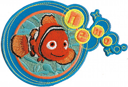 Walt Disney's Finding Nemo Movie Nemo and Name Embroidered Patch, NEW UNUSED