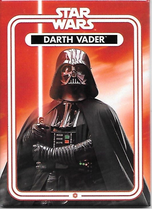 Star Wars Darth Vader with Light Saber Photo Image Refrigerator Magnet UNUSED picture