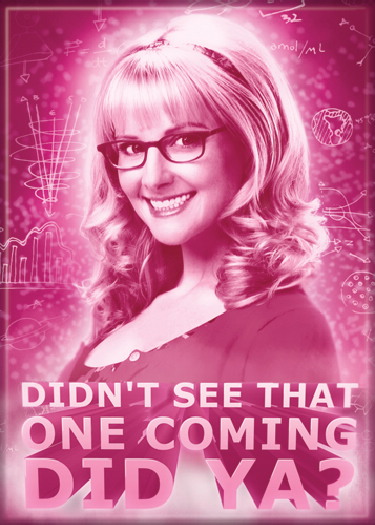 The Big Bang Theory Bernadette Didn't See That One Coming Did Ya? Magnet, UNUSED