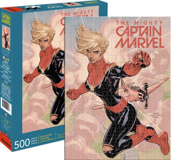 Marvel Comics Mighty Captain Marvel Comic Art 500 Piece Jigsaw Puzzle NEW SEALED
