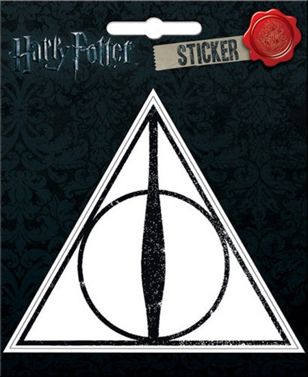 Harry Potter The Deathly Hallows Logo Image Peel Off Sticker Decal NEW UNUSED