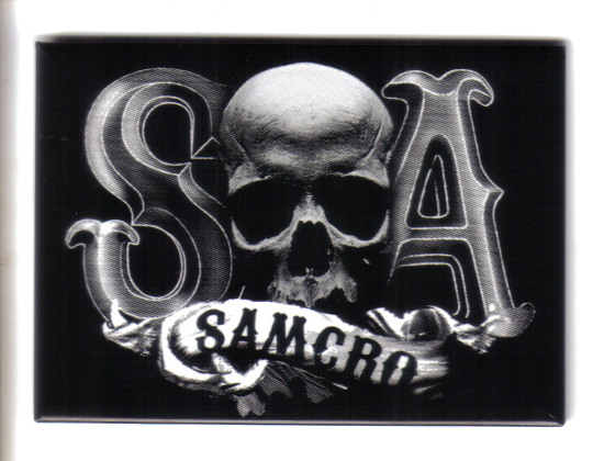 Sons of Anarchy TV Series S Skull A SAMCRO Logo Refrigerator Magnet, NEW UNUSED