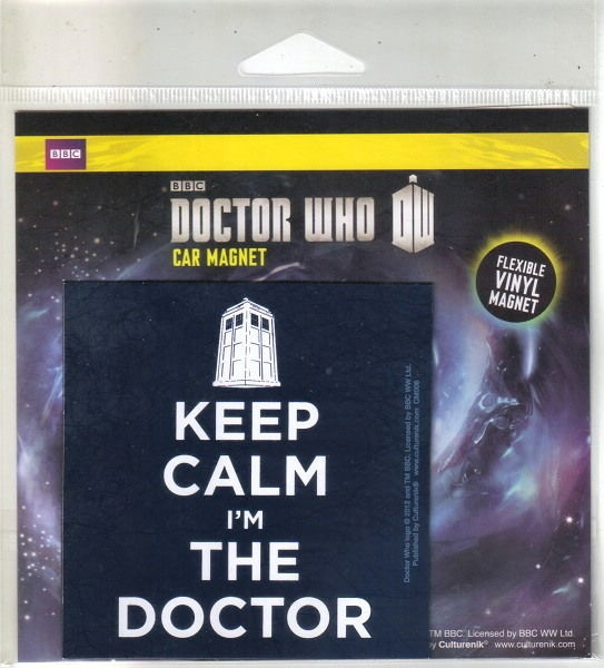 Doctor Who Keep Calm I'm The Doctor Flexible Vinyl Car Magnet Decal, NEW SEALED