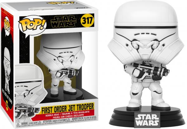 Star Wars IX: The Rise of Skywalker Jet Trooper Vinyl POP! Figure Toy #317 FUNKO