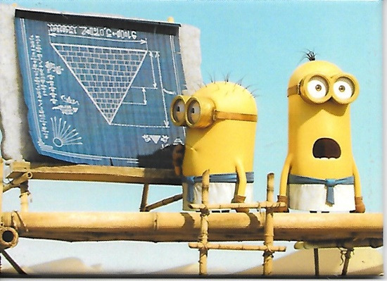 Minions Movie What The Phil and Kevin Pyramid Building Refrigerator Magnet NEW