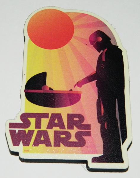 Star Wars The Mandalorian The Child Sunset Chunky 3-D Die-Cut Magnet NEW UNUSED